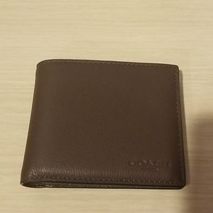 Coach mens brown leather wallet, BRAND NEW